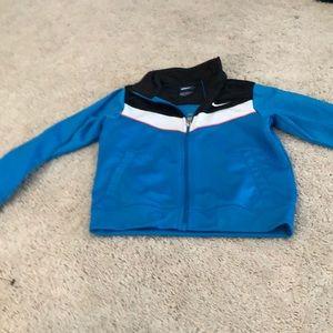 Boys Nike sweat zip up light jacket size 6